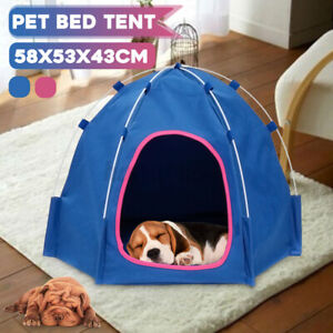 Oxford Foldable Pet Tent House Dog Cat Puppy Playing Nest Waterproof Kennel Bed