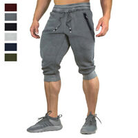 Men's 3/4 Capri Shorts Joggers Athletic Gym Workout Casual Running Sport Pants