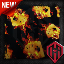 HYDROGRAPHIC WATER TRANSFER HYDRO DIPPING FILM HYDRO DIP FLAMING CARDS ACE POKER