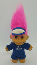 Vintage Russ Troll Doll Pink Hair Blue #1 Coach Outfit Clothes 4.5""