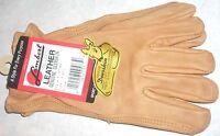Lambert Brown Deerskin Leather Work/Drive Wrist Glove Unlined Unisex S/M US Made