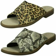 Clarks Ladies Slip On Summer Sandals - Declan Ivy