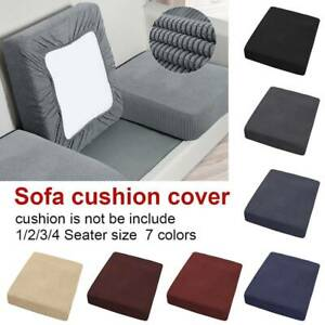 1/2/3/4 Seat Cover Stretch Chair Sofa Couch Cover Elastic Slipcover Protector US