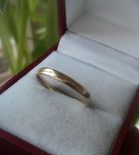 Vintage 9ct Yellow Gold Wedding Band Ring hm 1941 Birmingham H. Samuel - size P
