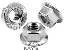 UNF & UNC IMPERIAL FLANGED NUTS A2 STAINLESS STEEL TO FIT USA BOLTS & SCREWS