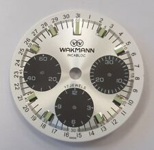 Wakmann watch dial for ETA Valjoux 72 swiss made movement - never used
