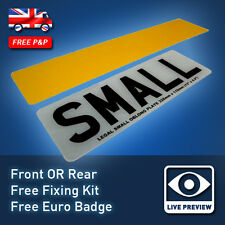 "SINGLE Small 13"" Sized 330x111 Short Oblong UK Car Licence Reg Number Plate 07"