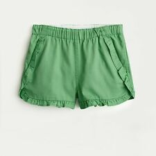 NEW Crewcuts Girls Ruffle Pull On Shorts in Chino Green Size 14 NWT