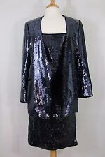 Vtg ESCADA by Margaretha Ley Women's 3-Piece Sequin Skirt Suit Tank Size 42/38