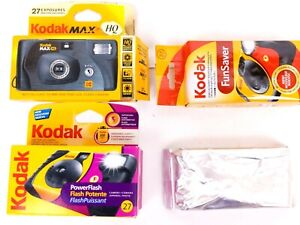 Lot of 4 Kodak Max HQ Funsaver Power Flash Disposable Camera 27 Exposure Expired