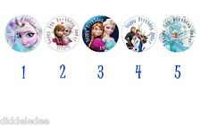 30 Frozen Birthday Party Stickers Lollipop Labels Favors 1.5  in Personalize