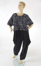 Lagenlook Damenblusen, - tops & -shirts mit Rundhals-Ausschnitt aus Viskose