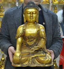 Tibet Buddhism temple bronze Gilt Sakyamuni Shakyamuni Tathagata Buddha Statue