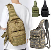 Backpack Shoulder Outdoor Trekking Travel Backpack Tactical Sling Military Bag