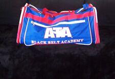 "Ata Taekwondo Black Belt Academy Mma Red White Blue Duffle Sparring Gym Bag 29"""