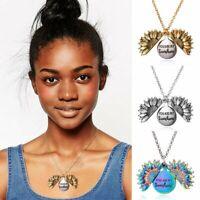Fashion Personalized You Are My Sunshine Open Locket Sunflower Pendant Necklace