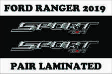 ONE PAIR 2019 FX4 SPORT 4X4 OFF ROAD DECALS STICKER FORD RANGER TRUCK LAMINATED