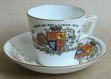 WILEMAN FOLEY CUP & SAUCER QUEEN VICTORIA 60 YEARS ON THE THRONE (Ref5719)