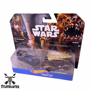 Hot Wheels Caractère Cars Star Wars Luke Skywalker & Rancor Neuf Emballage