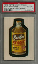 1973 Topps Wacky Packages Boo-Hoo Drink 2nd Series White Back PSA 8 NM-MT Card
