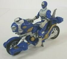 1998 Power Rangers Lost Galaxy Blue Astro Cycle Motorcycle Set Complete