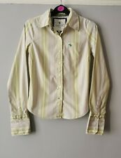 Abercrombie And Fitch Women's Vintage Striped White Green Shirt Size Small