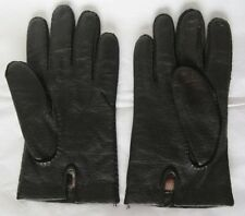 Dents Make Black Leather Gloves XL w/ Stickers Imitation Peccary