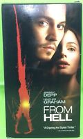 FROM HELL VHS 2002 Johnny Depp Heather Graham Ian Holm Robbie Coltrane