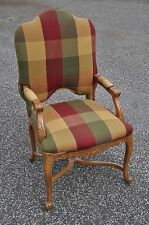 French Style Armchair With Stretcher Base