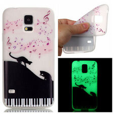Pattern For Samsung Galaxy Soft TPU Clear Glow In The Dark Luminous Case Cover