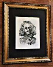 """SALVADOR DALI """"Velazquez"""" *Original Signed Etching (1960's) W/Embosed Seal COA."""