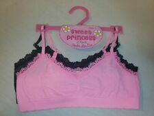 Sweet Princess Girls 2 Pack Bras Size small gray pink seamless lace bra (17)