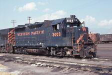 Western Pacific - Wp 3008 - Gp35 - Original 35mm Kodachrome Slide
