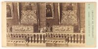 Camera A Tramonto Da Louis XIV Versailles Foto Stereo Vintage Albumina c1857