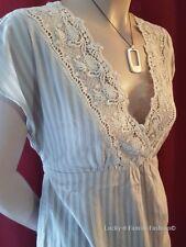 NEW ladies crochet detail tie back short sleeve lace smart summer top Size 8