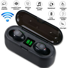 TWS Wireless Earphones Bluetooth 5.0 Earbuds Mini Headset LED Stereo Headphone