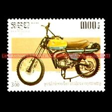 CZ 125 1984 KAMPUCHEA Cambodge Timbre Poste Moto Collection Stempel Stamp