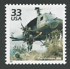 1960s The Vietnam War Combat Troops Military Soldiers Huey Helicopter Stamp Mint