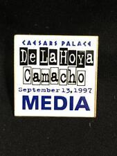 OSCAR DE LA HOYA - CAMACHO CAESARS PALACE 9/13/97 2X2 MEDIA PRESS PIN
