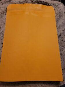 25x Brown Kraft Catalog Self Adhesive Envelopes, Gummed Seal, 12 x 15.5