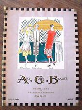 Art Goût Beauté  Mai 1925  Revue de mode Art-Déco Feuillets Elegance Féminine