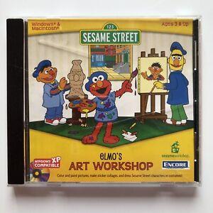 Sesame Street: Elmo's Art Workshop (Windows/Mac, 1998) PC Game Disc NO Manual