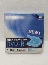 KIT / CONFEZIONE DA 10 DVD-R 4,7GB TDK IN UNICA CUSTODIA RIGIDA