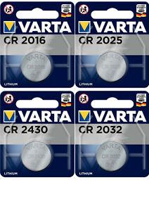 Varta Knopfzellen CR2016 CR2025 CR2430 CR2032 Batterien neuester Produktion