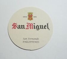 "PHILIPPINES Beer Mat Coaster SAN MIGUEL White Round NEW 2013 Pinoy 4"" Diameter"