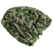 c7dab297c82 Plain Beanie Camouflage Hat Cap Winter Ski Hunting tactical Military Camo  Visor