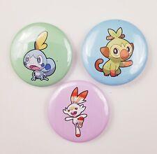 Pokemon Wooloo Yamper Charmander Meowth Mega Charizard X Piplup Chimchar Badges