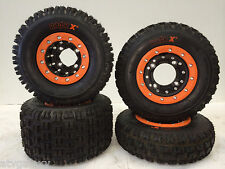 Hiper CF1 Beadlock Rims Maxxis XM MX Tires Front/Rear MX Kit Honda TRX 450R 250R