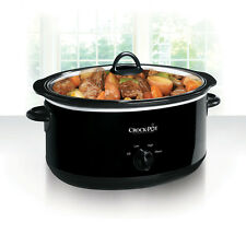 Crock-Pot 8-Quart Manual Slow Cooker, Black SCV800-B