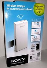 Sony Portable Wireless Server Power Pack 2200 mAh with 16gb SD card iOS Android
